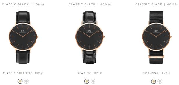 Daniel Wellington: Montres CLASSIC BLACK