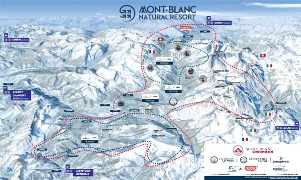 Plan des domaines skiables Mont Natural Resort