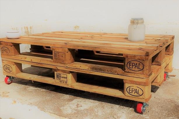 Table basse en palette bois