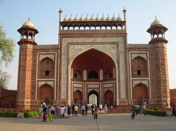 Porte d'entrée pour le Taj Mahal