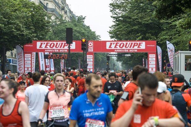 10Km l'Equipe Paris 2016 - 29/05/2016 – Paris – France – Ambiance à l'arrivée