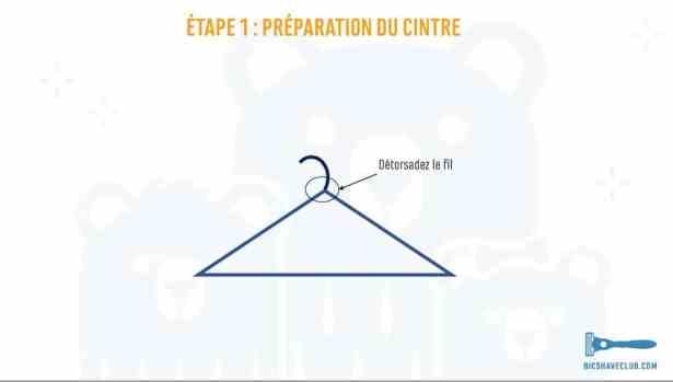 Etape 1 - Support Rasoir et blaireau