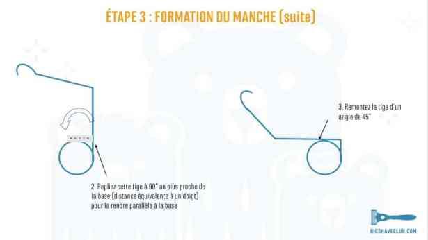 Etape 3 suite - DIY Support rasoir et blaireau