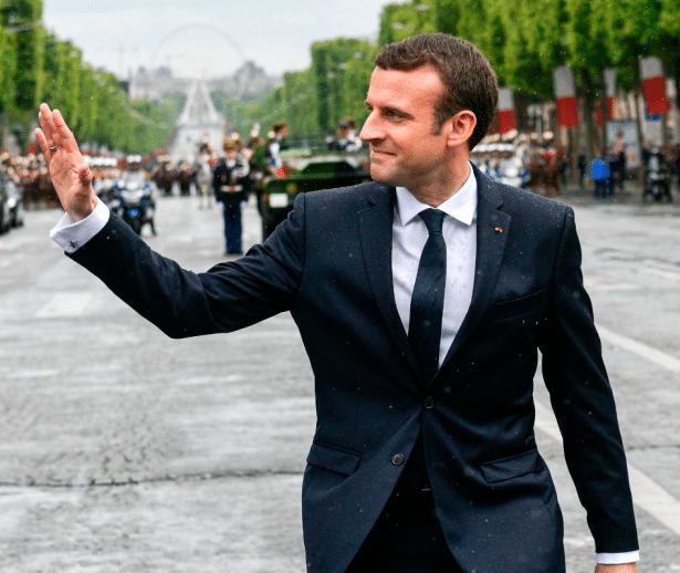 Costume sur-mesure d'Emmanuel Macron