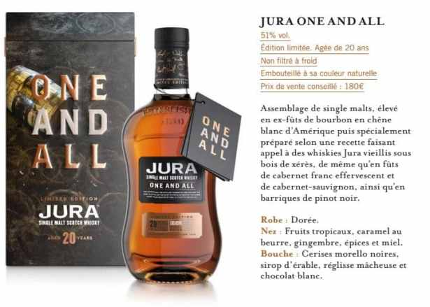Whisky Jura One And All rend hommage aux habitants de l'île.