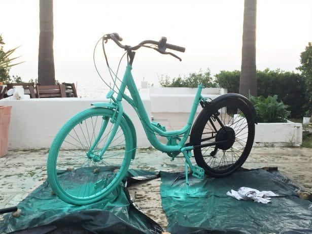 Attention ça sèche - upcycling customisation vélo