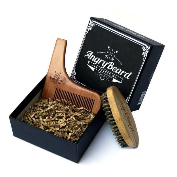 COFFRET A BARBE ➜ Coffret à barbe composé d'une brosse à barbe 100% naturelle et d'un outil de contour de barbe muni d'un peigne intégré.