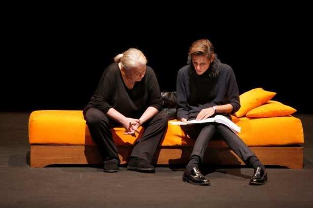 Josiane Balasko et Hélène Fillières (metteur en scène de la pièce).
