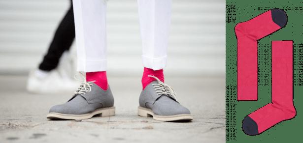 Chaussettes rose pour homme stylée et confortables by Happy Socks
