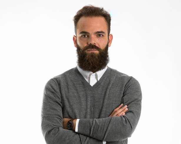 PULL MÉRINOS EXTRA FIN COL V HOMME GRIS à 34,90€