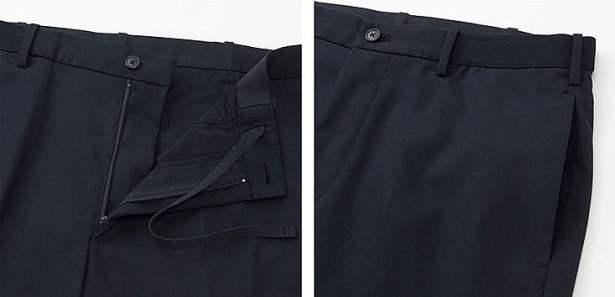 Pantalon infroissable, même après lavage, grâce à un traitement spécial entretien facile, ce qui facilite grandement le repassage.