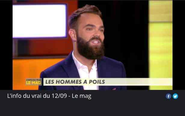 Guillaume Fréchin, L'Info du Vrai sur Canal+ Le 12 septembre 2018