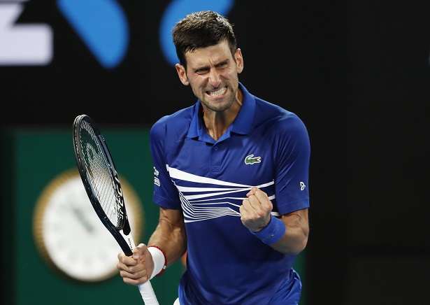 Novak Djokovic à l'Open d'Australie en 2019