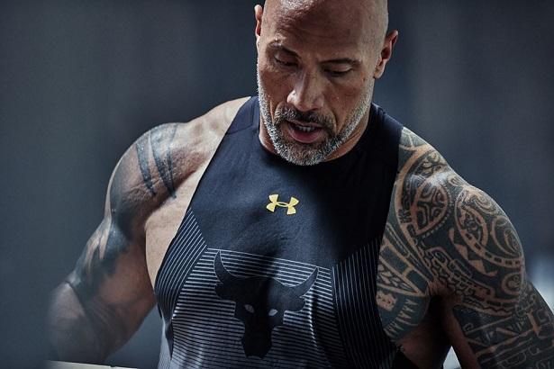 Dwayne Johnson's : The Rock égérie Under Armour