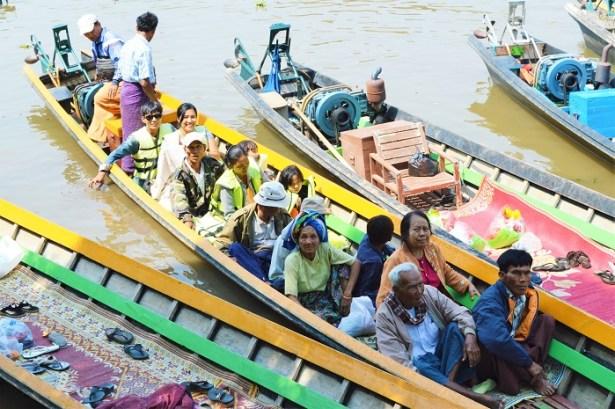 Transport en commun Lac Inle, Birmanie - Crédit photo L'HommeTendance.fr