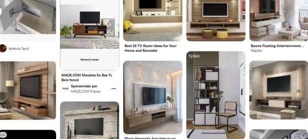 Décoration salon + télévision