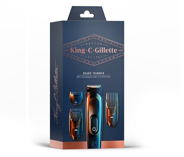 Tondeuse à barbe, cheveux et corps King.C.Gillette