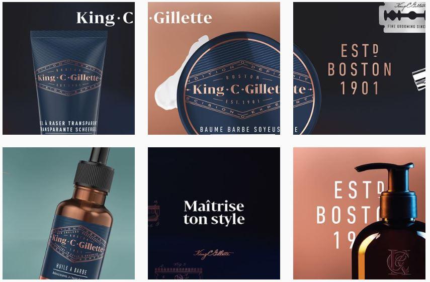 King.C.Gillette de nouveaux produits et soins pour la barbe