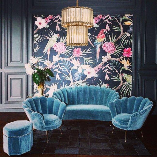 Canapé design et coloré