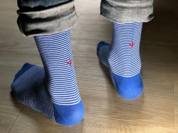 Estampille chaussettes françaises matières recyclées
