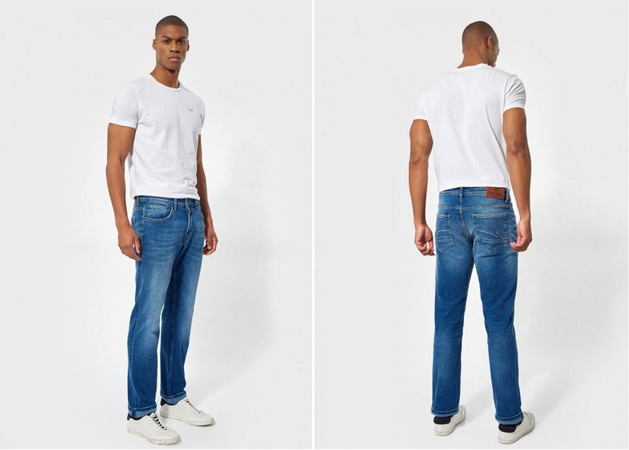 Jeans coupe straight pour homme