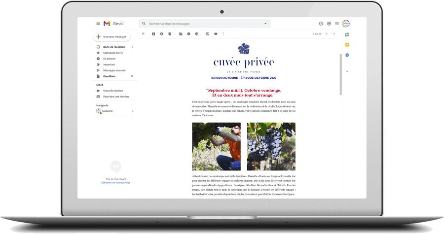 Chaque mois vous recevez des nouvelles de vos vignes et des articles pour vous permettre de peaufiner votre culture liée au monde du vin