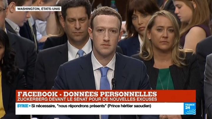 Le boss de Facebook qui s'explique devant le congrès américain au sujet du traitement et de l'utilisation des données des utilisateurs de Facebook
