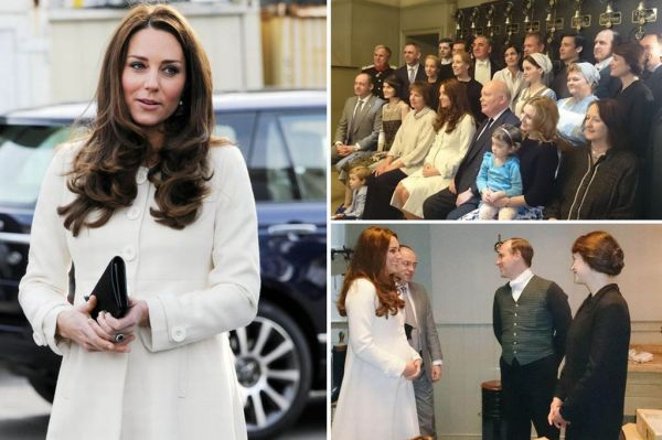 Kate Middleton visits set of 'Downton Abbey'