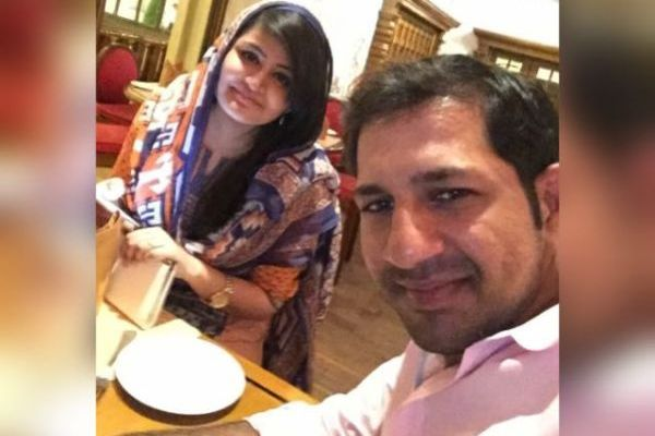 Sarfraz with his wife