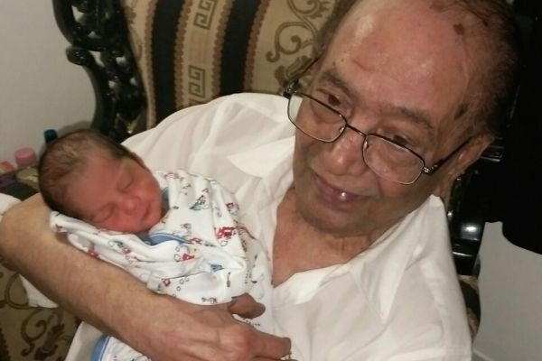 HANIF MOHAMMAD WITH GRANDSON