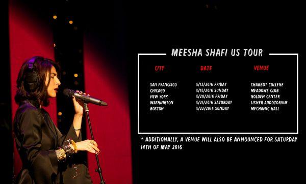 Meesha Shafi US Tour Dates