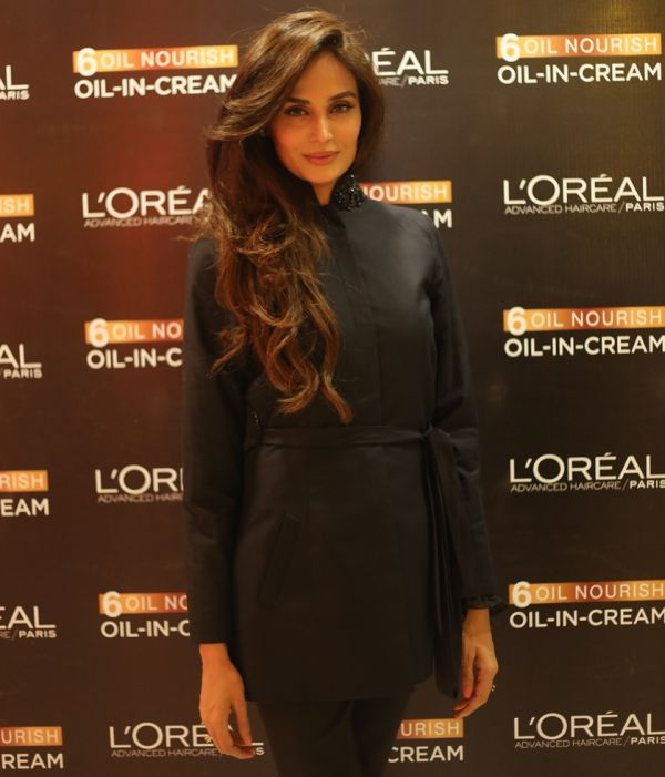 LOreal Paris Spokesperson Mehreen Syed wearing HSY