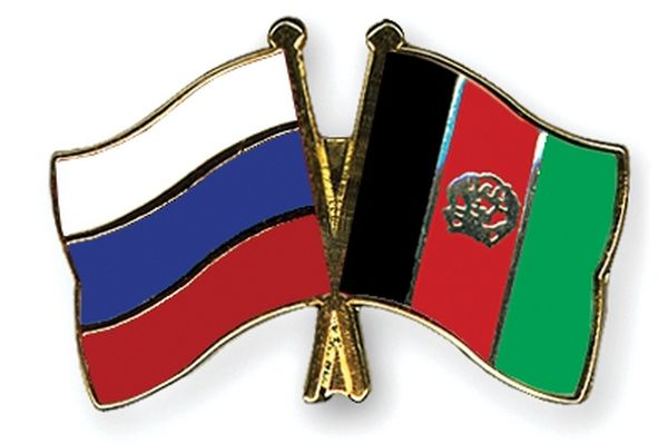 Russia-Afghanistan Crossed Flag
