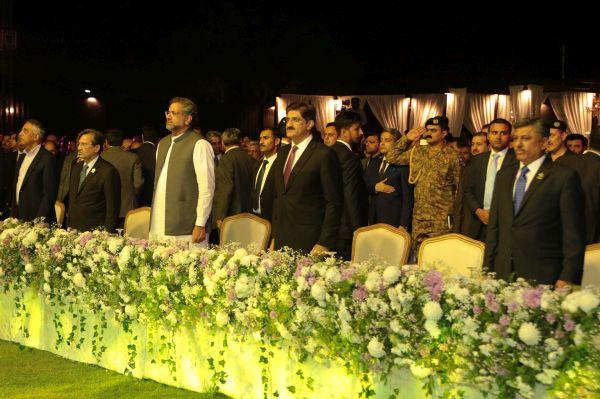 Governor of Sindh Mr. Muhammad Zubair, Minister of Commerce Mr. Muhammad Pervaiz Malik, PM Mr. Shahid Khaqan Abbasi, Chief Minister of Sindh Mr. Syed Murad Ali Shah & Sec Ministry of Commerce Mr. Muhammad Yunus Dhaga