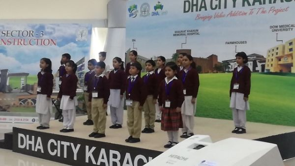 DHA city Khi chidren presented tablou