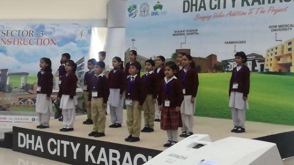 DHA city Khi chidren presented tablou