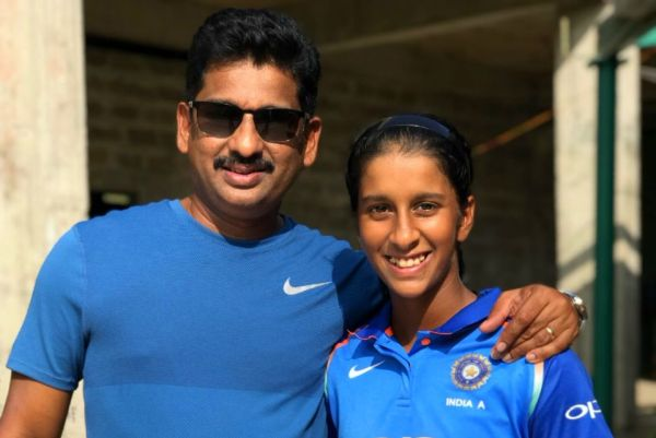 Jemimah Rodrigues' brilliant catch was just a few feet away from her dad's seat at the ground