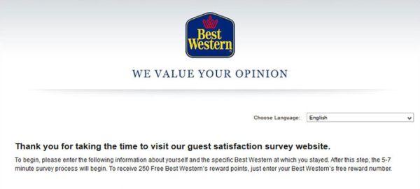 Best Western Survey