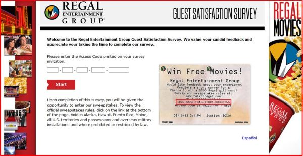 Regal Entertainment Group Survey