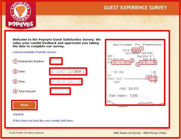 Popeyes Louisiana Kitchen Survey