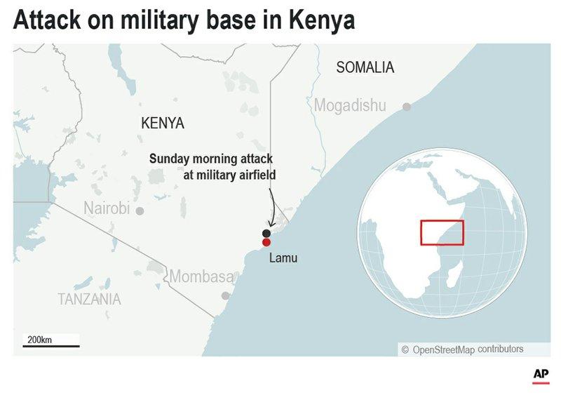 Extremists attack Kenya military base