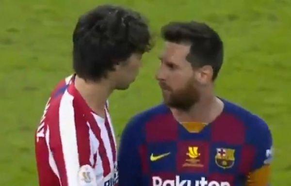 Clash between Joao Felix and Lionel Messi
