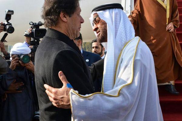 Prime Minister Imran Khan and Abu Dhabi's Crown Prince Mohammed bin Zayed
