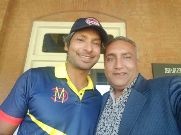 Meher Muhammad Khalil meets Kumar Sangakkara