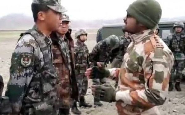 Chinese and Indian troops