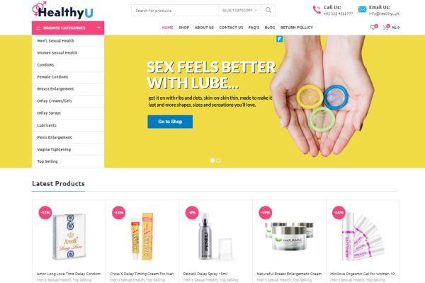 Healthyu.pk screenshot