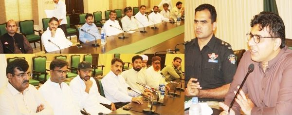 DC Thatta presides meeting to maintain law order during Muharram