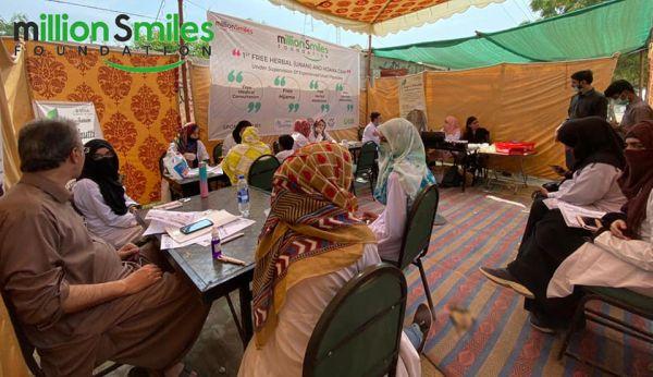 Million Smiles Foundation organized Free Herbal and Greek Medical Camp in Karachi