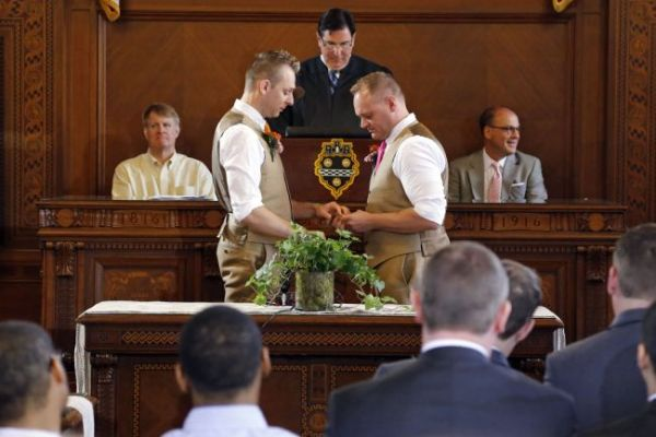 Same-sex marriage ceremony Pittsburgh