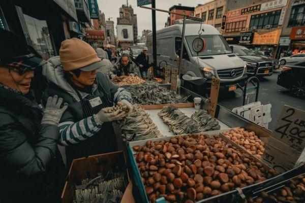 fresh veggies in Chinatown